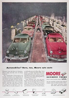 1948 MOORE STUDEBAKER ASSEMBLY LINE Advertisement ~ RARE CDN Ad