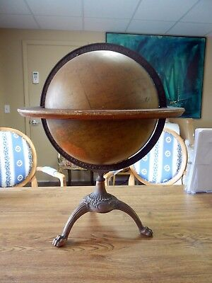 "Early Vintage Weber Costello 12"" Inch Globe Claw Foot Cast Iron Stand Nice!"