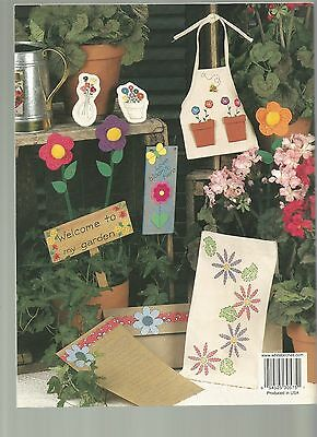 2 Hour Flower Crafts Patterns Bookmarks Cards Magnets Finger Puppets Apron X33