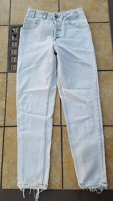 Guess Vintage Womens Jeans 80's Tapered Leg Button Fly Style 1005 Size 28 Sexy!