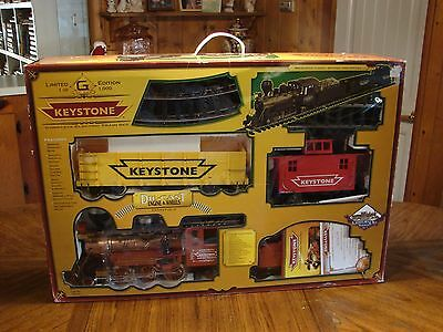 G Scale Complete Electric Train Set  Limited Edition Keystonewith Power Pack