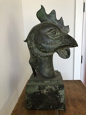 Vintage Rooster Post Finial Cap Chicken