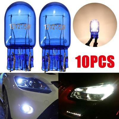 10Pcs Car T10 W5W 194 Cool White 5W 8000K XENON Halogen Bulb ss#10