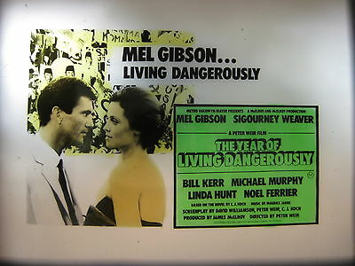 YEAR OF LIVING DANGEROUSLY 1982 Australian cinema movie projector glass slides