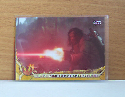 Star Wars Rogue One series 2 Baze Malbus' last stand #88 Gold parallel card /50