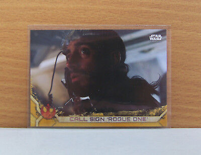 Star Wars Rogue One series 2 Call sign 'Rogue One' #45 Gold parallel card 24/50