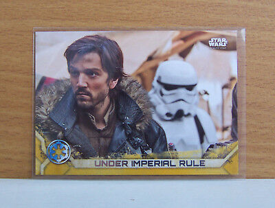 Star Wars Rogue One series 2 Under Imperial Rule #16 Gold parallel card 1/50