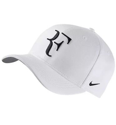 Nike Court Aerobill Roger Federer White Black Men Tennis Sports Hat 868579-100