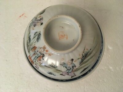 3 Mixed Antique Chinese Bowl, Lid & Saucer