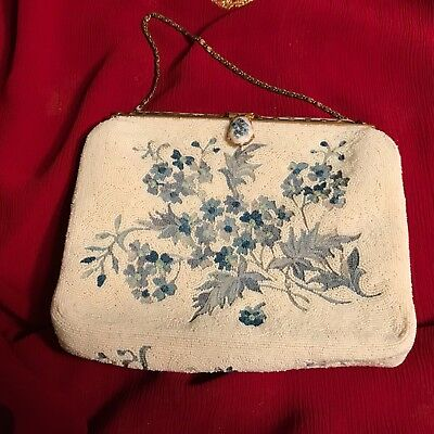 Vintage Hand Made Faux pearl Purse France Made for H.A & E. Smith LTD Bermuda