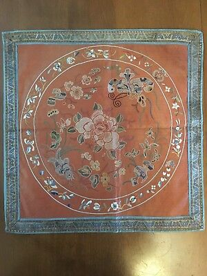 Antique Or Vintage Chinese Silk Panel # 3
