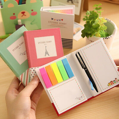 100pages MINI notebook 3-in-1 Sticky notes Pen Pocketbook Pocket Notepad