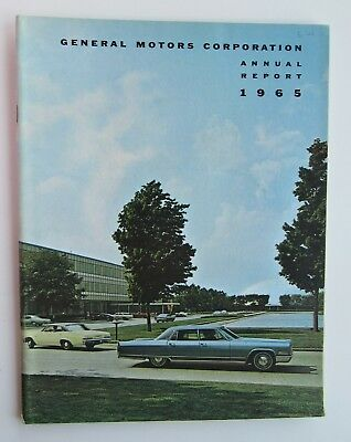 Annual Report For General Motors Corp. 1965 Pictures Of 65 Models
