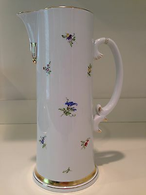 Hochst Hand-Painted Porcelain Floral Pitcher Made in Germany New