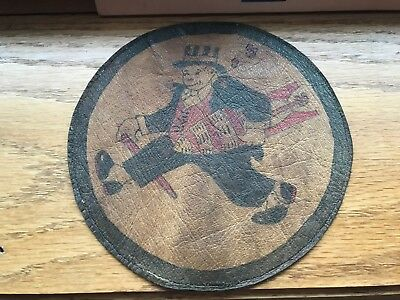 WW2 WWii US AIR FORCE PATCH-11th Bomb Squadron-ORIGINAL-LEATHER! RARE BEAUTY!