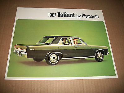 1967 Plymouth Valiant Sales Catalog Brochure Canadian Market Issue Very Clean