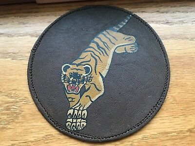 WW2 WWii US AIR FORCE PATCH-24th Pursuit Squadron - ORIGINAL LEATHER! BEAUTIFUL!