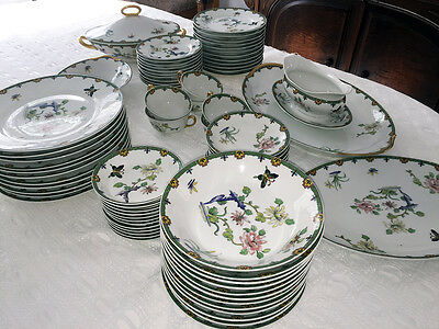 Limoges Union Ceramique No 32 ( UNC32) VERY RARE Dinner Set circa 1925