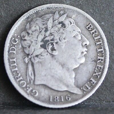 George III Sterling Silver Sixpence, 1816. Fine
