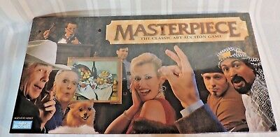 NEW 1996 MASTERPIECE Board Game PERFECT Art Auction Parker Brothers Sealed VTG