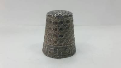 RR Old beautiful collectible 925 silver thimble