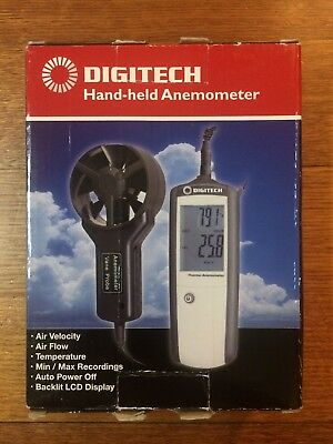 Hand-held Anemometer with Separate Sensor QM1646 wind speed measure