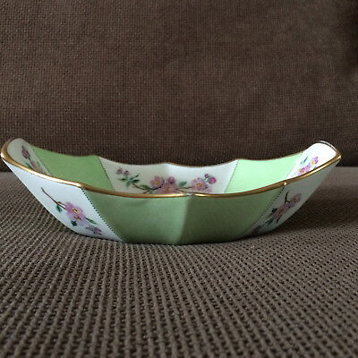 Pretty Handpainted Vintage Ridgway Dish / Bowl ~ Flowers & Butterflies