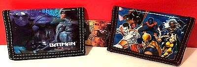 Children's Wallet Batman and Marvel X -Man Blue  Set of Two