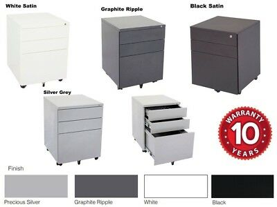 Rapidline 3 Drawer Mobile Pedestal Steel Lockable 10 Year Warranty GMP3