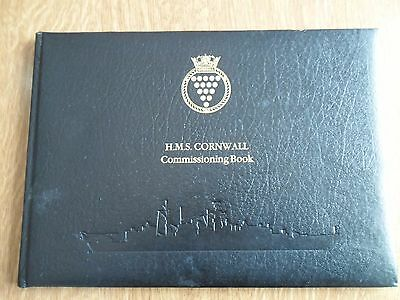 H.M.S. Cornwall - Commissioning book - Ship England - Visit Lady Diana -Rarest