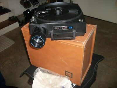 kodak slide projector  1980 with leather case and all parts