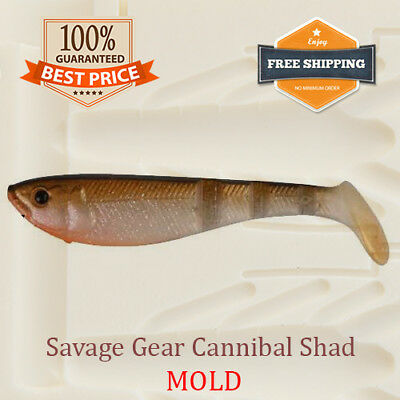 Savage Gear Cannibal Shad Fishing Mold Lure Bait Soft Plastic 71-100 mm