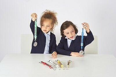 Set of 6 Push/Pull Spring Scales Forces and Motion Science KS1 KS2 KS3