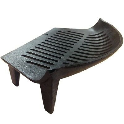 Fire Vida Cast Iron Fire Grate, Metal, Black, 46cm. Free Delivery