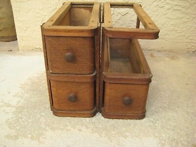 Antique Sewing Machine Wood Drawers / Repurpose / AS IS