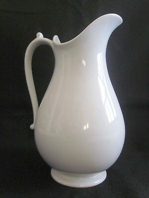 Antique WEDGWOOD Staffordshire White Ironstone Tall Pitcher Ewer 12 3/4""