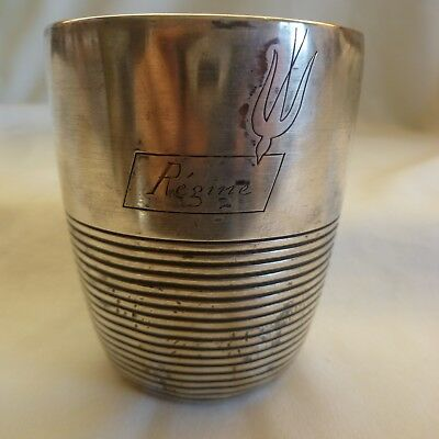 An Old  Christofle France Silver Plated Cup - Pigeon Deliver Message To Regine