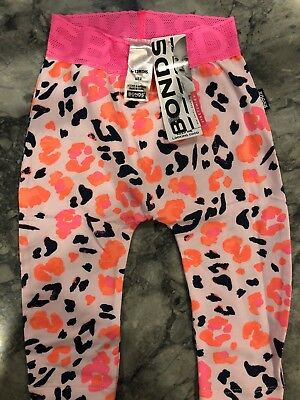 Bonds Stretchies Tights Pants Size 0 (6-12 Months) Pink Animal Print Brand New