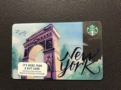 2017 STARBUCKS New York City NYC  Card NEW