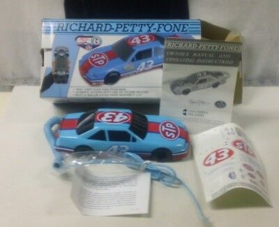 Vtg Coca-Cola Phone Richard Petty Fone #43 Car STP Tour Tel Com Lights Flash 92
