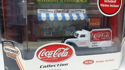 1:64 Matchbox coca cola 1938 delivery truck with diorama display very rare