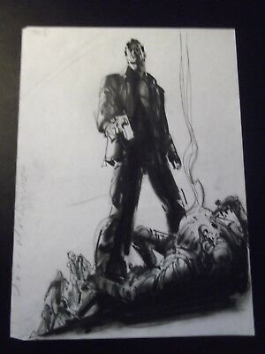 Walking Dead Season 2 original production art Rick Grimes by John Watkiss