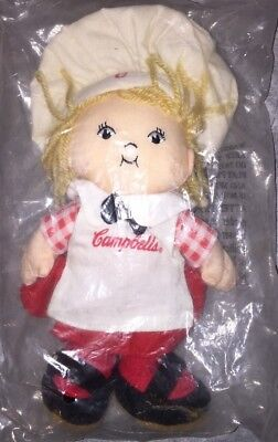 Vintage Campbell's Soup Kids Plush Beanie Girl Chef Doll ~ New in Pkg