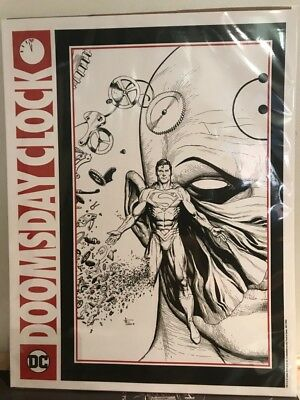 Doomsday Clock 11:57 Release Promotional Lithograph by Gary Frank - DC Superman