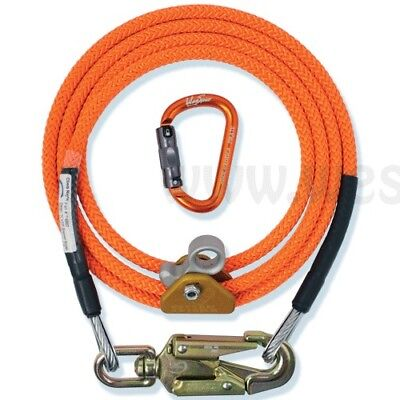"Climb Right 1/2"" X 8' Steel Core Lanyard Kit Flipline  Swivel Snap FLK1208"