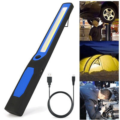 Rechargeable LED COB Camping Work Inspection Light Lamp Hand Torch Magnetic