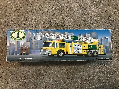 BP 1996 Aerial Tower Fire Truck Collector's Edition 1st Series - Yellow