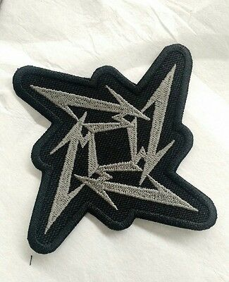 Metallica Embroidered Patch IRON/SEW ON Ninja Star USA Seller Fast Delivery