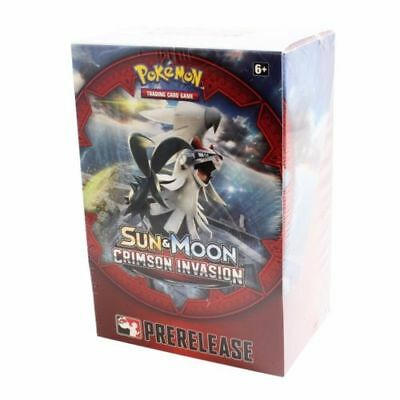 Sun & Moon Crimson Invasion Prerelease Kit Box Pokemon TCG Factory Sealed