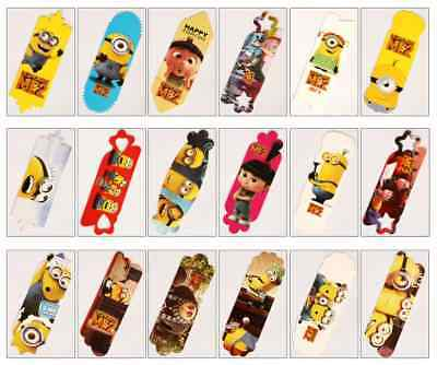 Despicable Me Minions Card Paper Bookmark x 18 Different Design